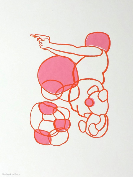 Bubbles, screen print, 49,5 x 34,8 cm, 2015