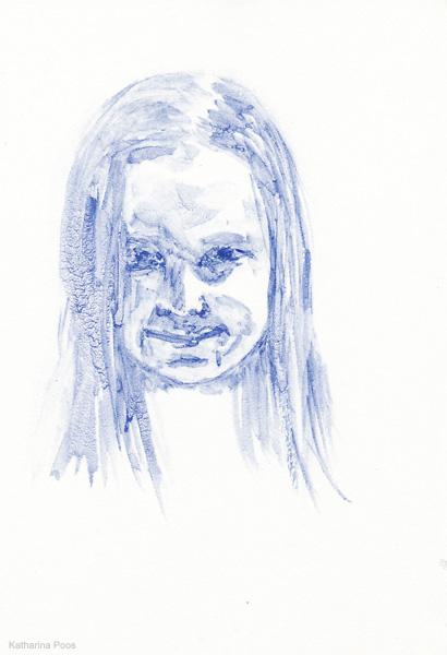 Jojo, 14,8 x 10,5 cm, watercolour on paper, 2012