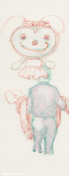 gone, 25 x 10 cm, watercolour on paper, 2018