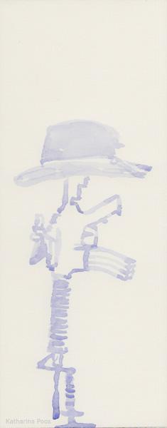 hat, 10 x 25 cm, watercolour on paper, 2018